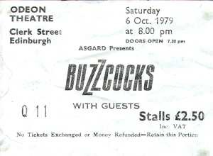 Buzzcocks Ticket
