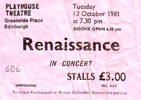 Renaissance Ticket