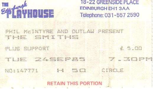 Smiths Ticket